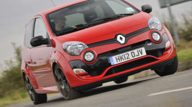 Renault Twingo RS 133 Cup red cornering