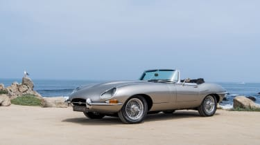 Jaguar e-type Zero drive - front quarter