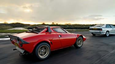 Lancia Stratos rear driving