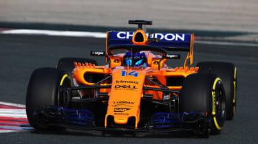 McLaren 2018 F1 car - track