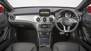Mercedes GLA250 AMG interior dashboard