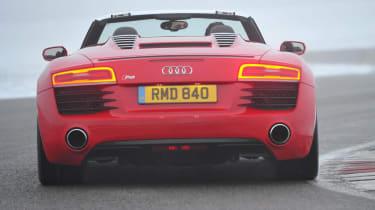 Audi R8 V8 red rear