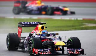 Sebastian Vettel took the lead, disobeying Red Bull team orders at Malaysia