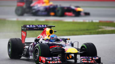 Sebastian Vettel took the lead, disobeying Red Bull team orders at Malaysia