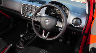 Skoda Citigo Sport interior dashboard steering wheel