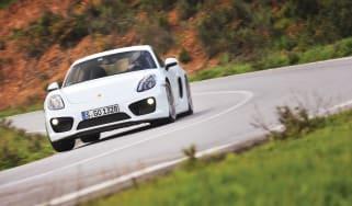 Porsche Cayman S 2013 hard cornering