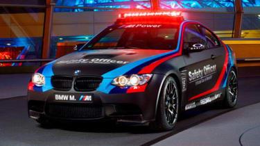 BMW M3 matt black coupe 2013 MotoGP safety officer car