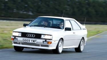 Audi quattro 20v cornering white