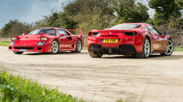 Ferrari turbos 488 F40 -static