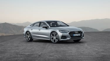 2018 Audi A7 Sportback press - front quarter