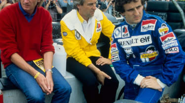Alain Prost (right) in 1983