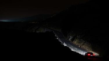 Audi R8 LMX night drive - road