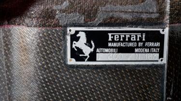 Michael Schumacher's Ferrari F1 car plaque