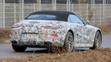 Mercedes SL spy 2021 - rear3