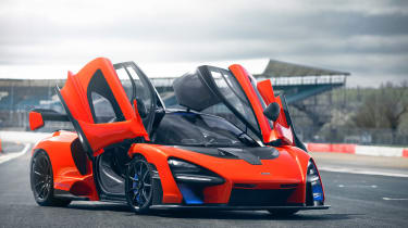 McLaren Senna at silverston - doors open