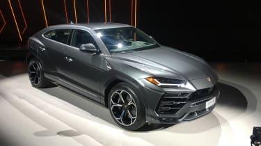 Lamborghini Urus on stand
