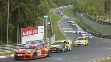 VW Scirocco at Nurburgring 4-hour test race