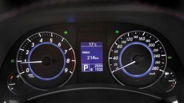 2012 Infiniti FX Vettel dials speedo