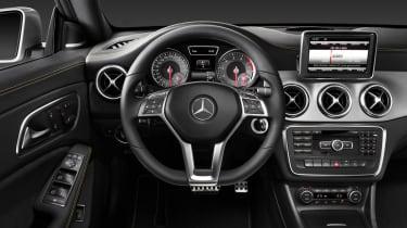 Mercedes-Benz CLA interior dashboard steering wheel