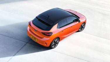 Vauxhall Corsa-e - roof