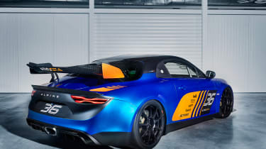 Alpine A110 GT4 - rear quarter