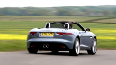 2013 Jaguar F-type V6 rear view