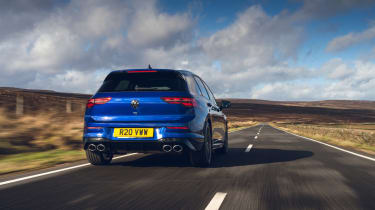 Volkswagen Golf R 2021 review - rear tracking