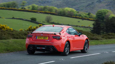 Toyota GT86 Orange Edition rear three-quarters