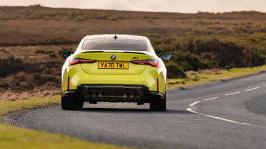 BMW M4 Competition 2021 review – rear