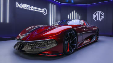 MG Cyberster Roadster concept – front quarter