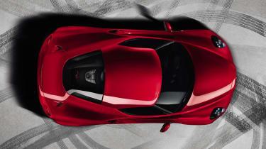 Alfa Romeo 4C overhead view