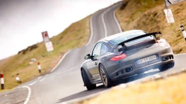 Porsche 911 GT2 RS sideways