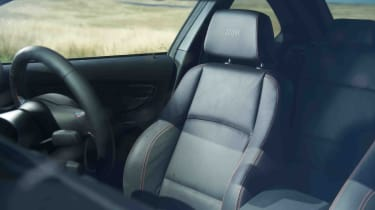BMW 1M review interior sports seat