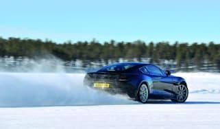 Aston Martin Vanquish winter testing