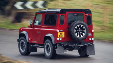 Land Rover Defender Works V8 – rear quarter