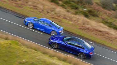 R8 RWS vs BMW M4 CS - twin