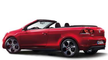 2012 Volkswagen Golf GTI cabriolet roof down