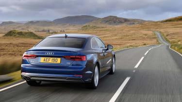 Audi A5 coupe blue - rear