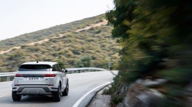 2019 Range Rover Evoque silver - rear