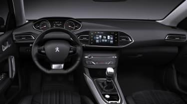 New 2013 Peugeot 308 dashboard steering wheel