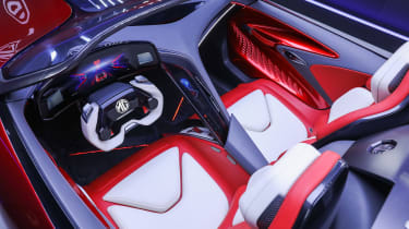 MG Cyberster Roadster concept – interior