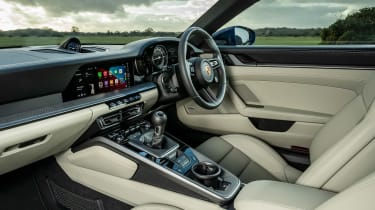 Porsche 911 Carrera S manual blue - interior