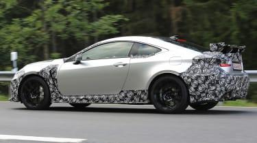 Lexus RC F GT spy - side