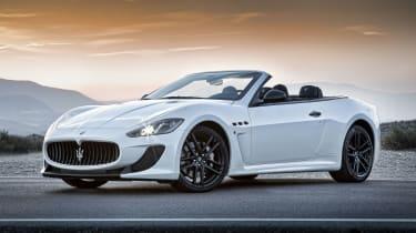 2013 Maserati GranCabrio MC white front