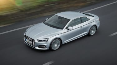 Audi A5 coupe silver - top