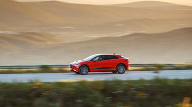 Jaguar I-Pace driving - side