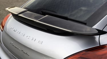 New Porsche Panamera Turbo folding rear spoiler