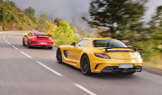 evo Car of the Year 2013 video: Mercedes SLS AMG Black and Porsche 911 GT3