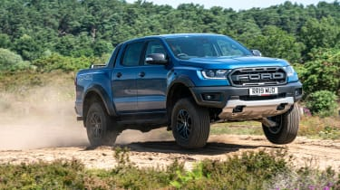 Ford Ranger Raptor UK - front quarter