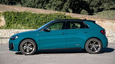 Audi A1 First Edition - teal profile